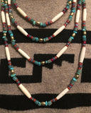 Long Brass Trade Bead Necklace 26 inches