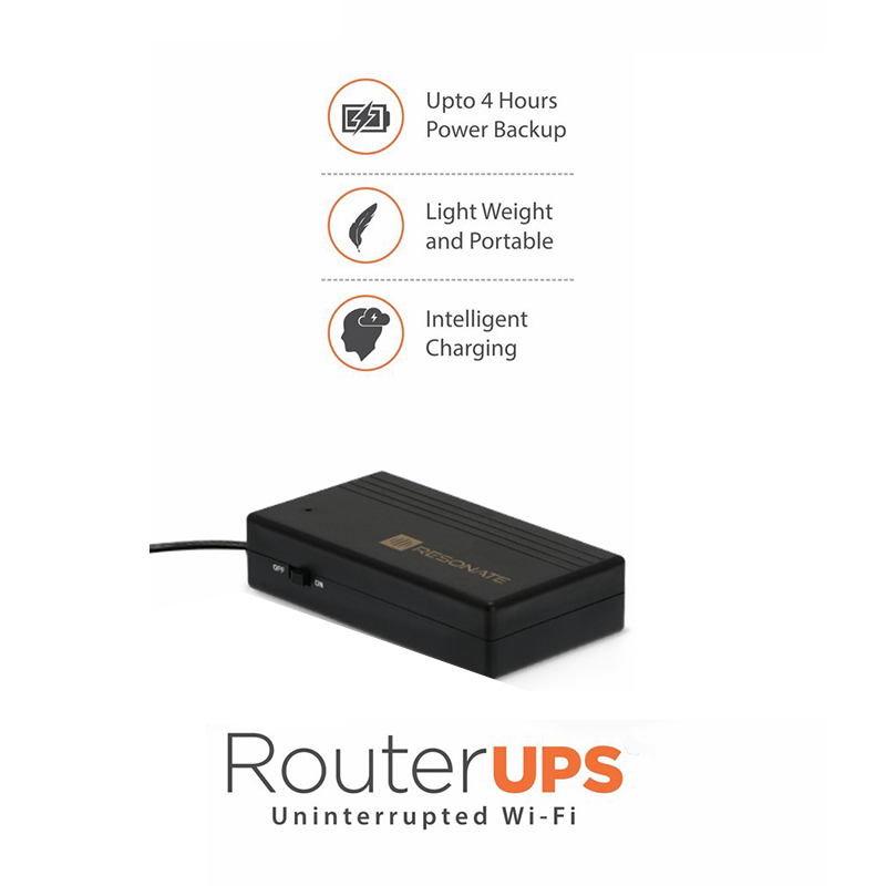 Resonate RouterUPS CRU5V Power Backup for WiFi Router