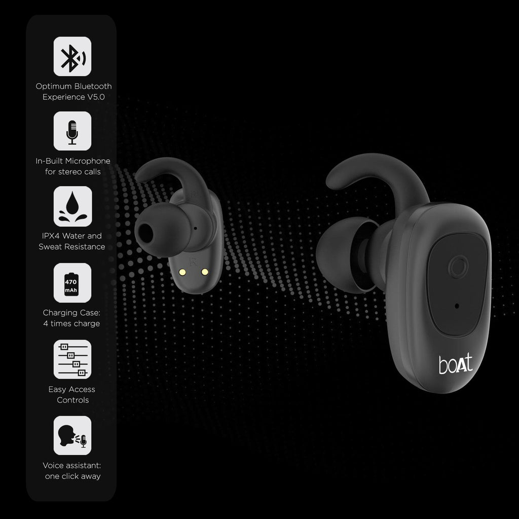 boAt Airdopes 200 True Wireless Earbuds with Up to 15H Total Playback