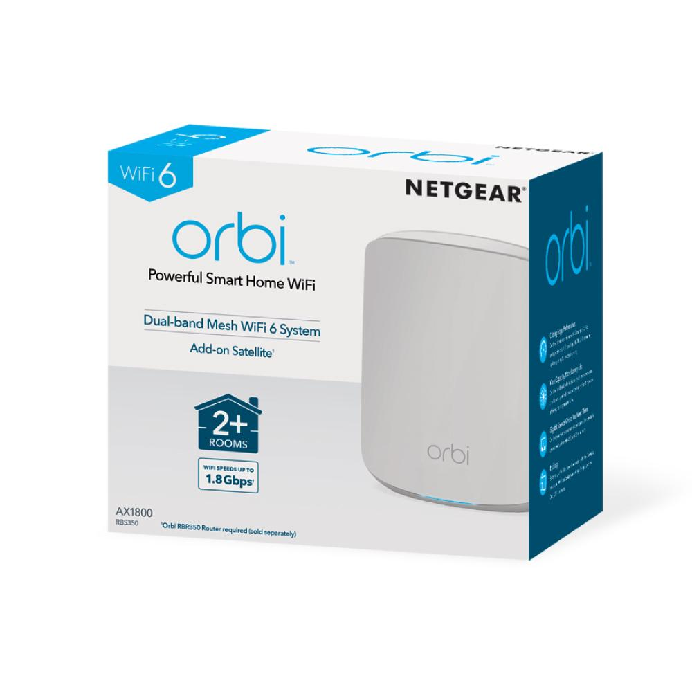 Netgear Orbi RBS350 AX1800 WiFi 6 Dual-band Mesh Add-on Satellite