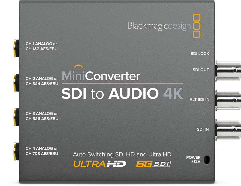 Blackmagic Mini Converter SDI to Audio 4K - gears-of-future-gfx