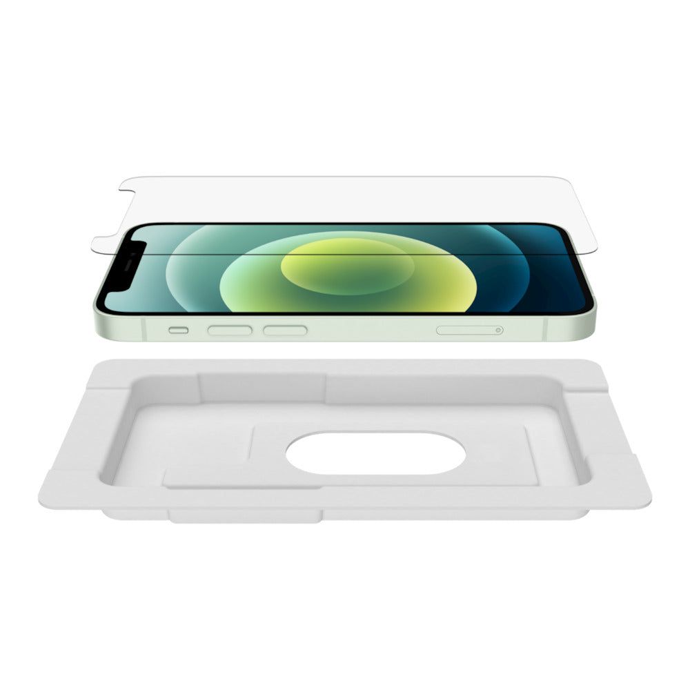 Belkin SCREENFORCE Tempered Glass Anti-Microbial Screen Protector for iPhone 12 Mini