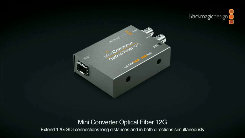 Blackmagic Mini Converter Optical Fiber 12G - gears-of-future-gfx