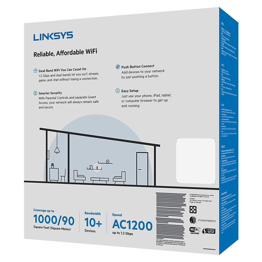 Linksys Dual-Band AC1200 WiFi 5 Router (E5600)