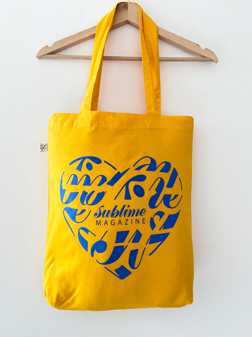 Sublime Universe Yellow Tote Bag