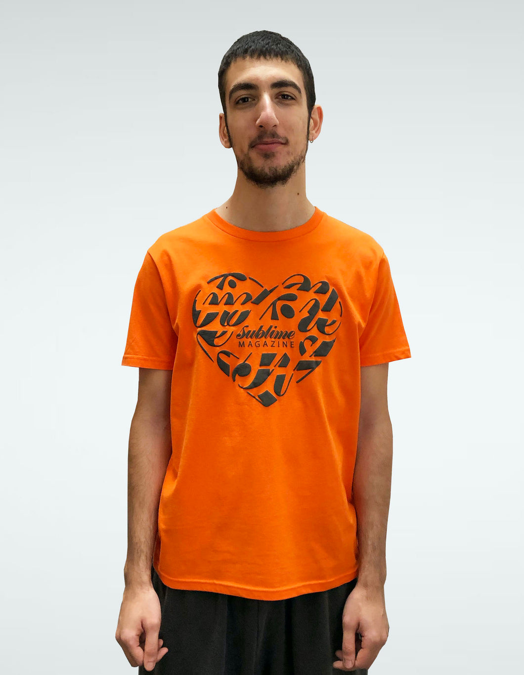 Unisex Sublime Universe Orange Short Sleeve T-Shirt