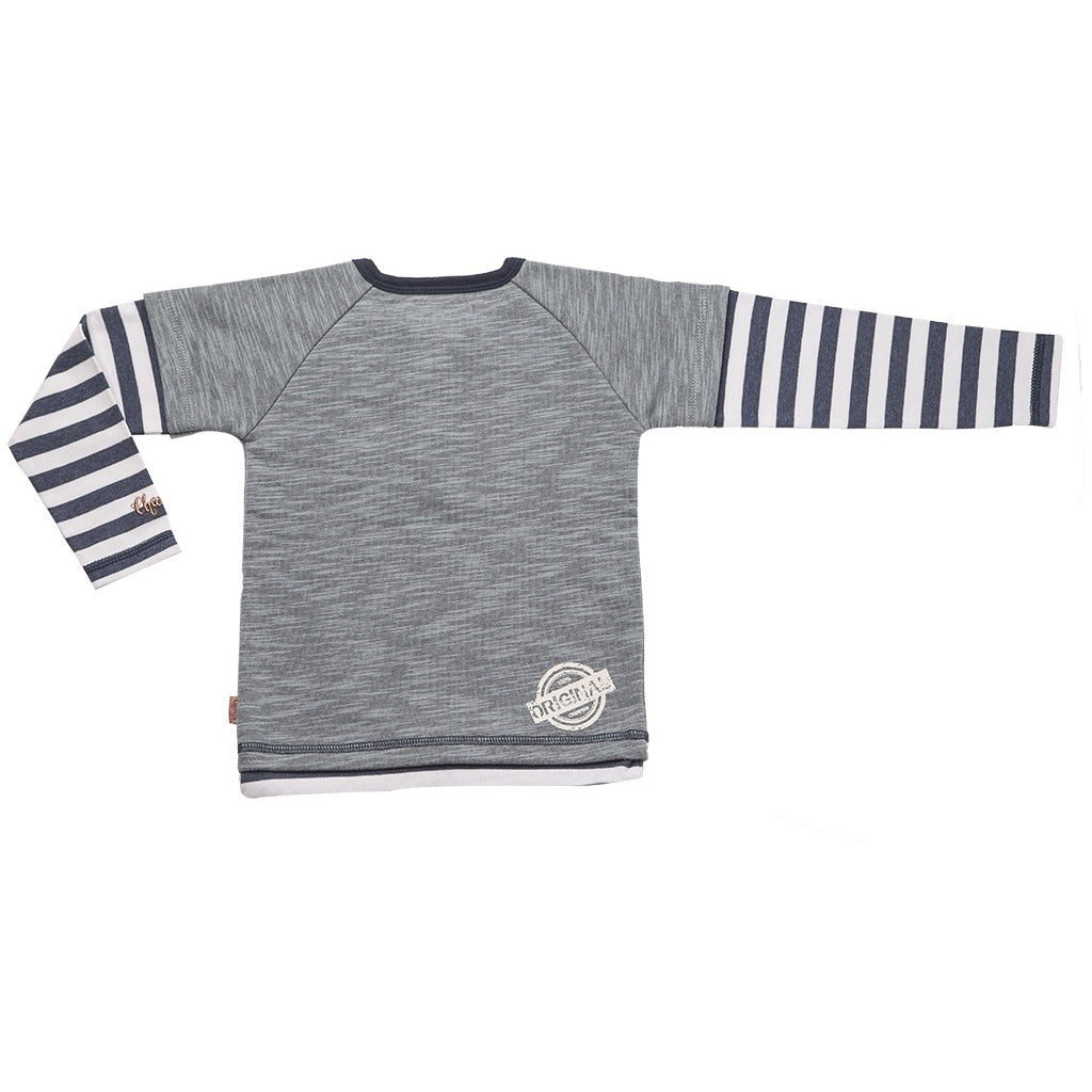 Champs of Denmark Sailor Sweat T-Shirt Navy