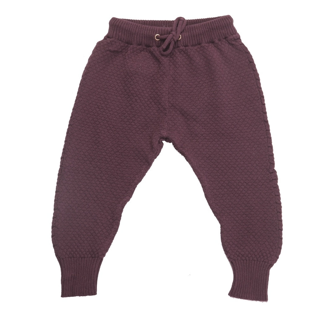 Champs of Denmark Strikbukser Pant Plum