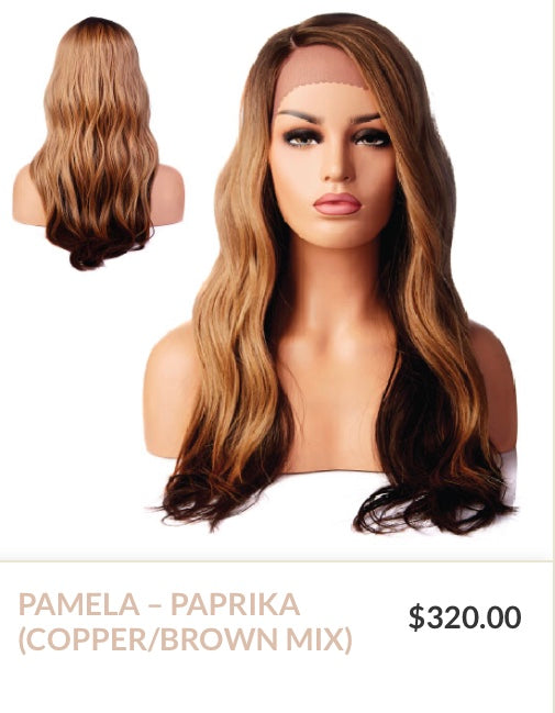 Paprika Curlable Synthetic Wig - Pamela