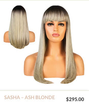 Load image into Gallery viewer, Ash Blonde Curlable Synthetic Wig