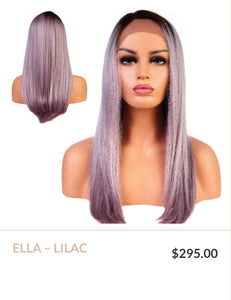 Lilac Curlable Synthetic Wig