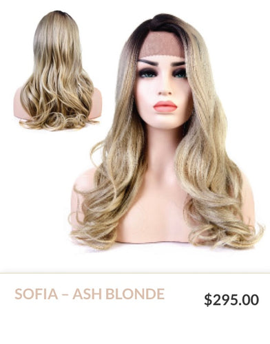 Ash Blonde Curlable Synthetic Wig