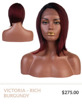 Load image into Gallery viewer, Rich Burgundy Curlable Synthetic Wig