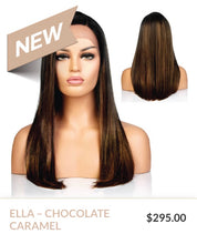 Load image into Gallery viewer, Chocolate Caramel Curlable Synthetic Wig