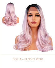 Load image into Gallery viewer, Flossy Pink Curlable Synthetic Wig