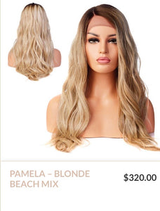 Blonde Beachy Curlable Synthetic Wig