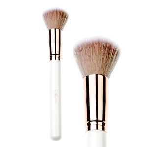 Vegan 15Pc White & Rose Gold Professional Brush Set with Storage Travel Case