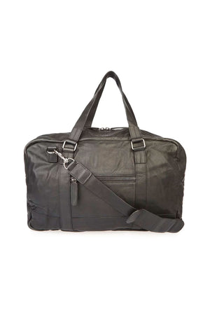 Bolso Leather Zip Weekend Bag