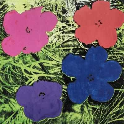 Andy Warhol Poster Colored Flowers - Neogalateca