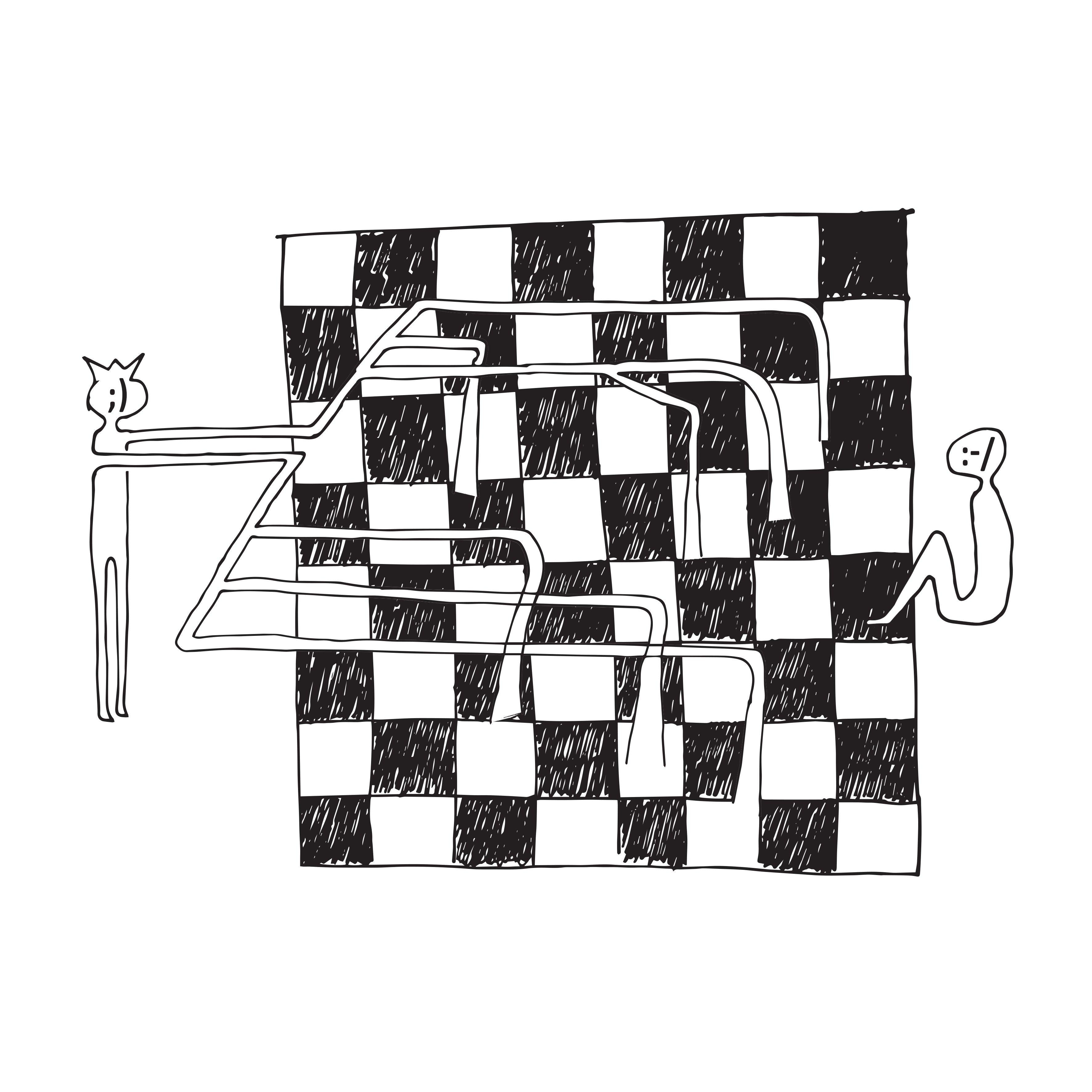 Mircea Moroianu print Checkmate from birth - Neogalateca