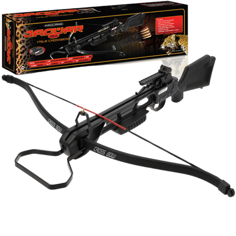 ANGLO ARMS JAGUAR STANDARD BLACK CROSSBOW - 175LB PLASTIC CROSSBOW KIT