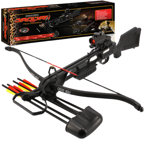 Anglo Arms Jaguar Deluxe Crossbow 175lbs Plastic Crossbow Kit (Includes Red Dot Sight)