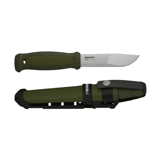 Morakniv Kansbol Stainless Steel Multi-Mount Fixed Knife Military Green