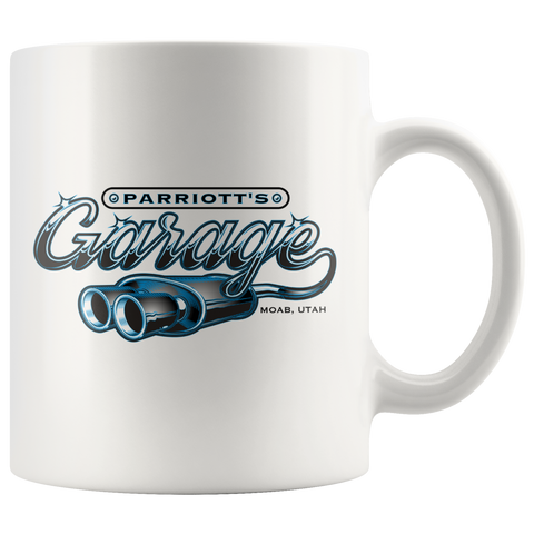 Parriott's Garage Blue 11oz Mug