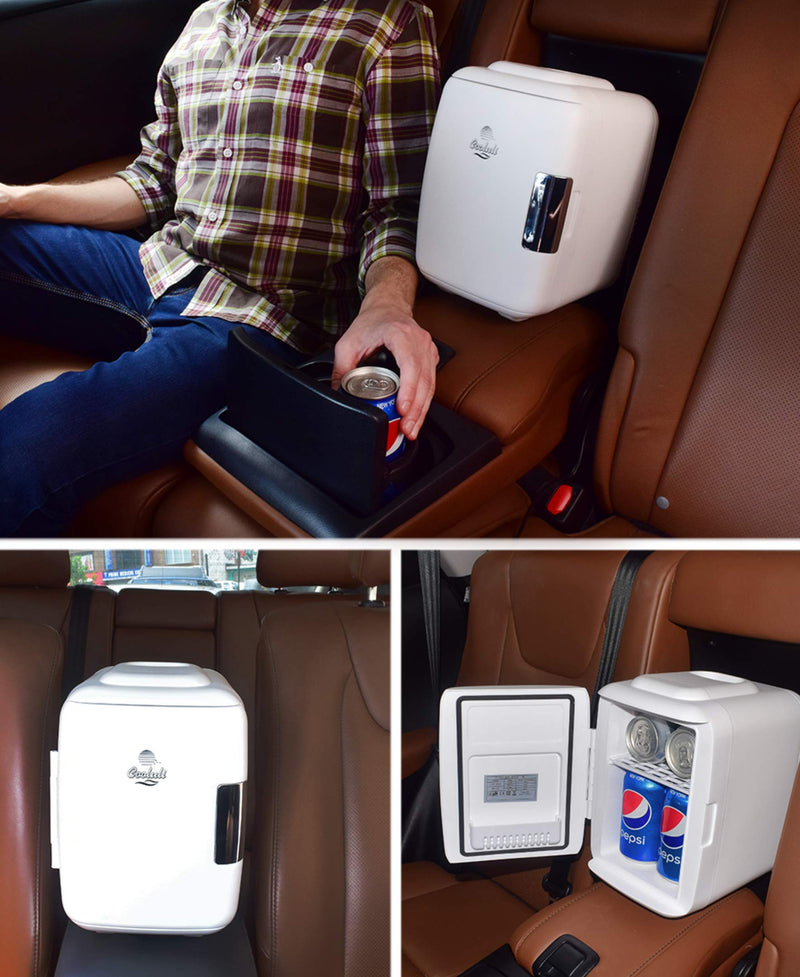 AC//DC Portable 4 Liter // 6 Can Mini Fridge Electric Cooler and Warmer