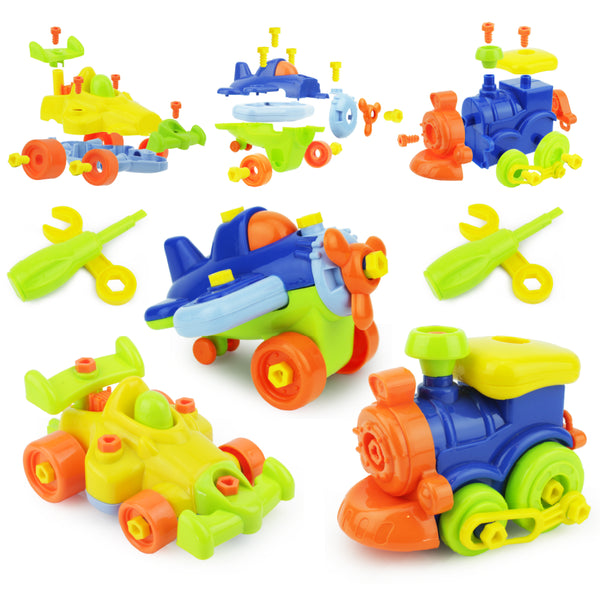 Take-Apart Vehicles - 3 PK