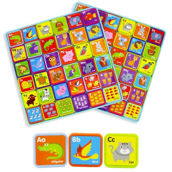 Animals and Alphabet Magnets - 72 PC