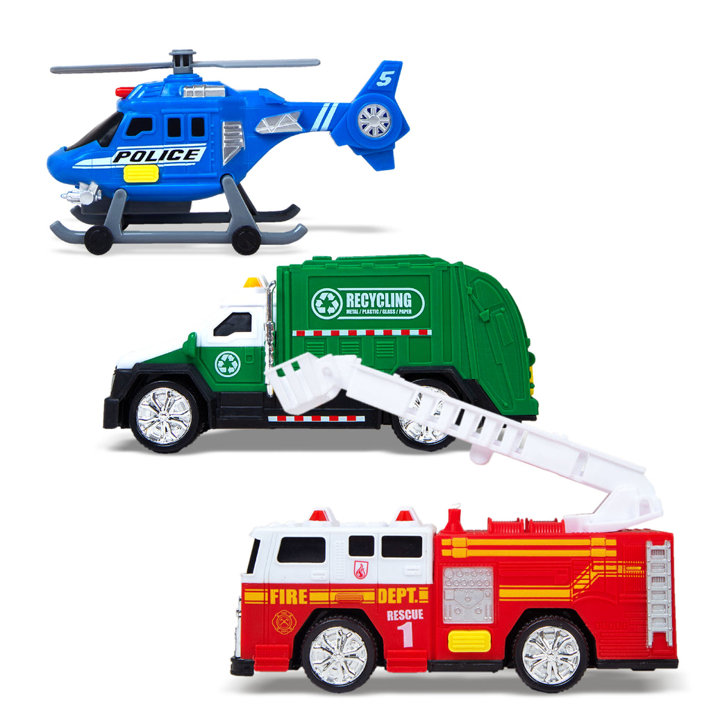 City Vehicles - 3 PK