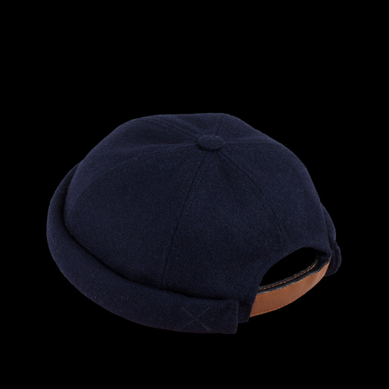MIKI DOCKER BEANIE DARK NAVY WOOL