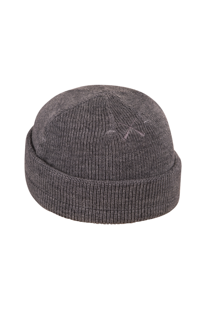 DOCKER BEANIE TORPILLE GREY WOOL