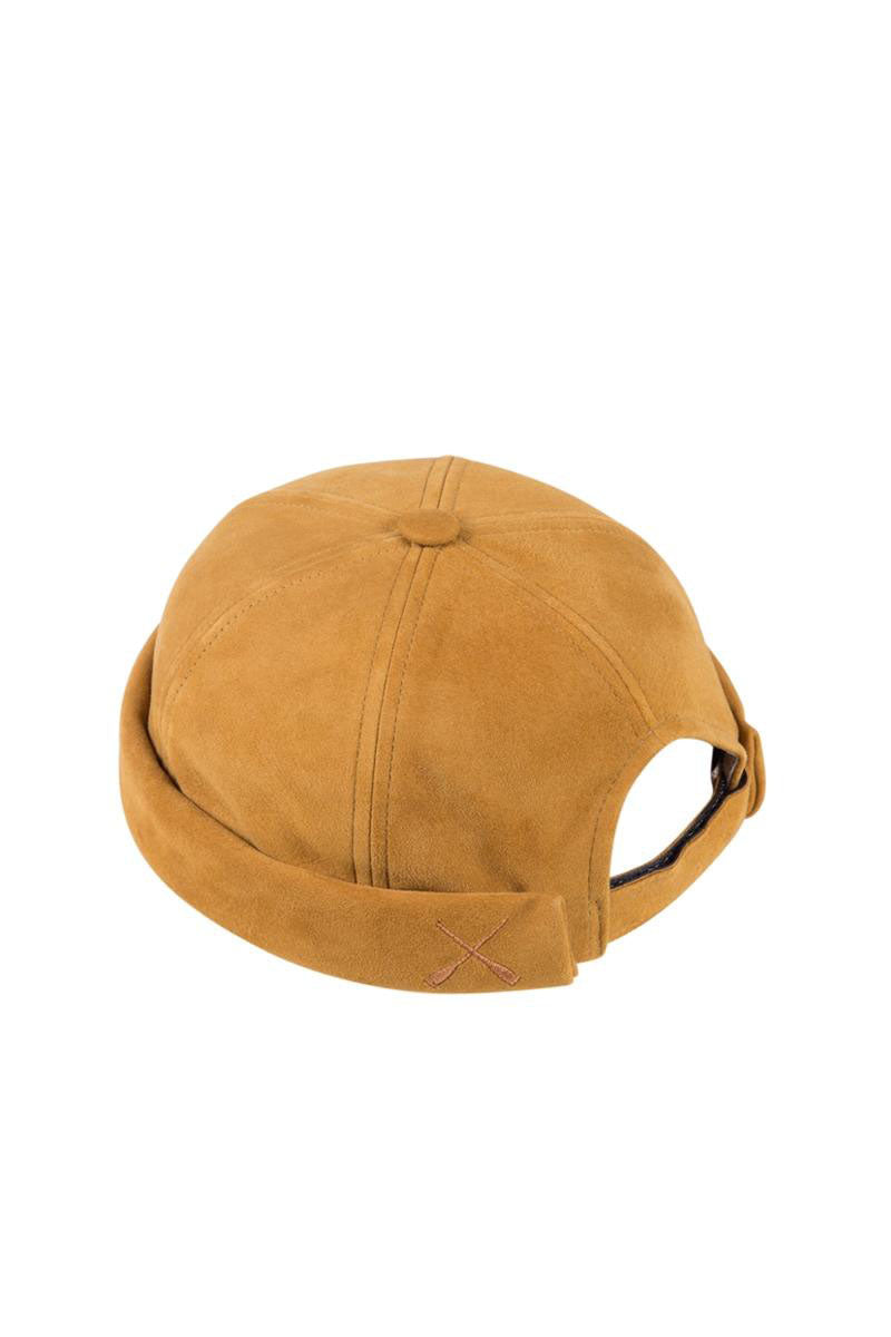 MIKI DOCKER BEANIE CAMEL SUEDE LEATHER