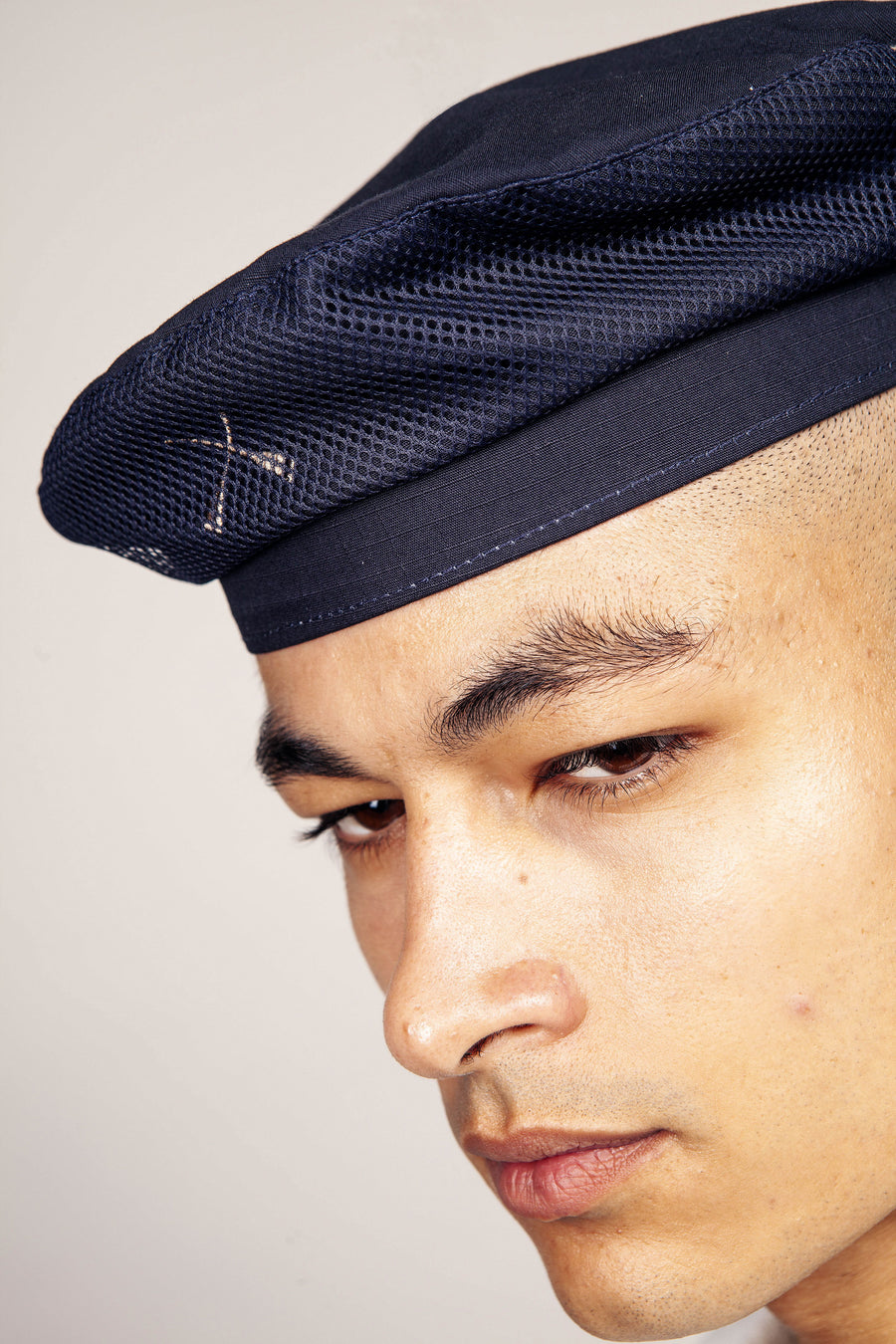 FRENCH BERET HAT BLUE NAVY WATERPROOF RIPSTOP