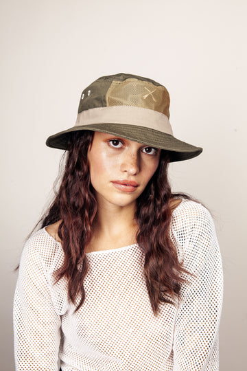 BUCKET HAT ADVENTURE WATERPOOF GREEN KHAKI