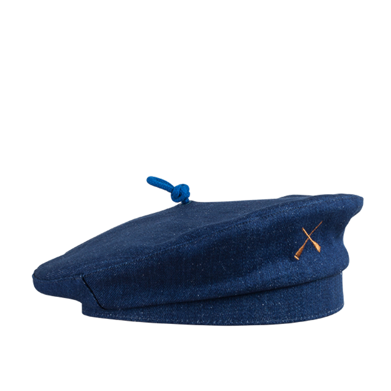 FRENCH BERET HAT BLUE DENIM RECYCLED