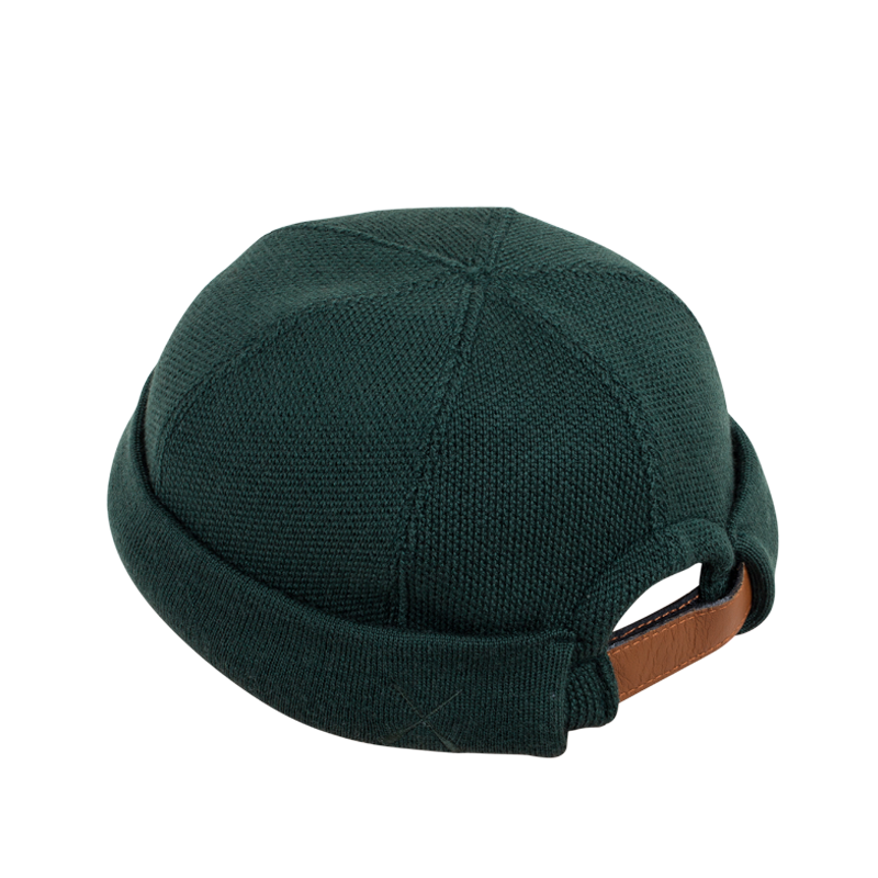 MIKI DOCKER BEANIE GREEN FOREST KNITTED WOOL