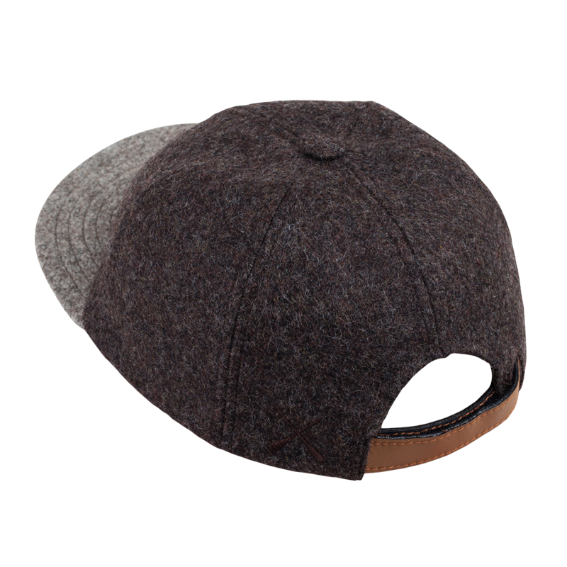 CITY CAP BROWN WOOL