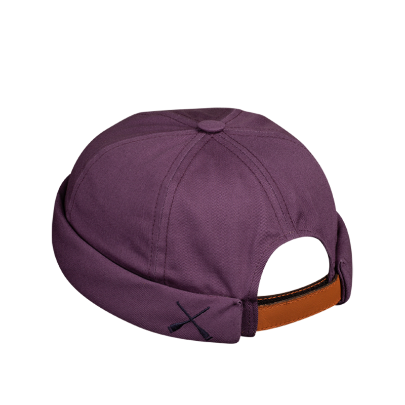 MIKI DOCKER BEANIE PURPLE DENIM