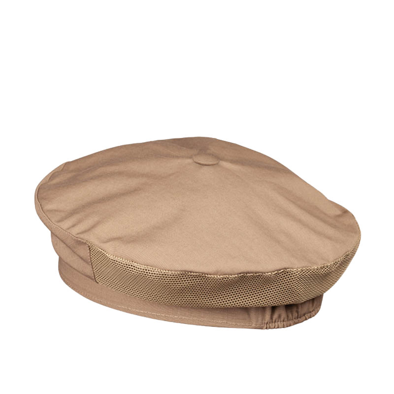 FRENCH BERET HAT BEIGE WATERPROOF RIPSTOP