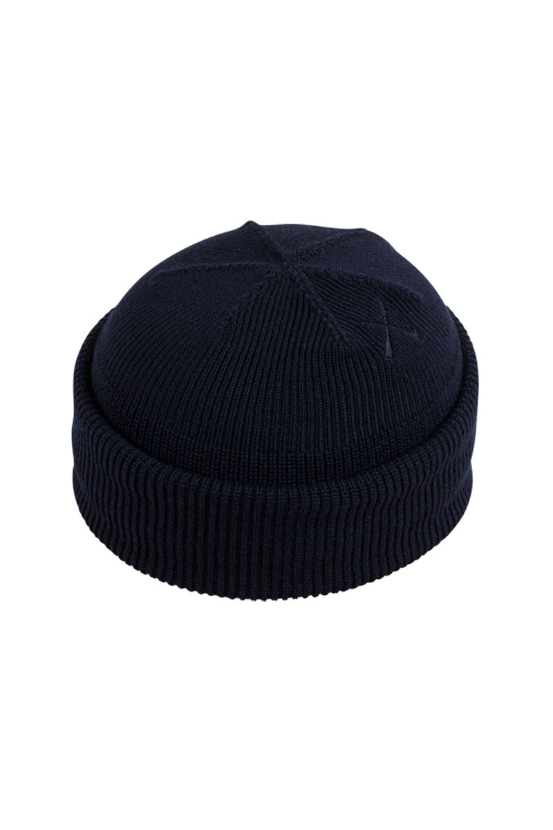 DOCKER BEANIE TORPILLE DARK BLUE WOOL