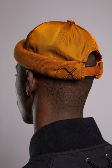 MIKI DOCKER BEANIE BROWN CAMEL NYLON BOMBER