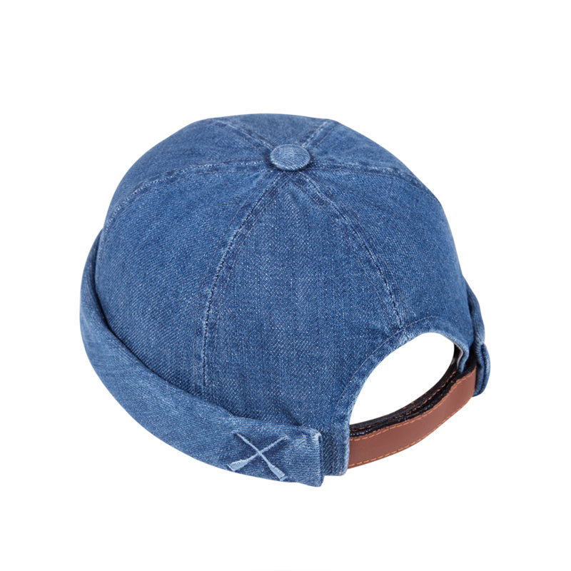 MIKI DOCKER BEANIE BLUE WASHED DENIM