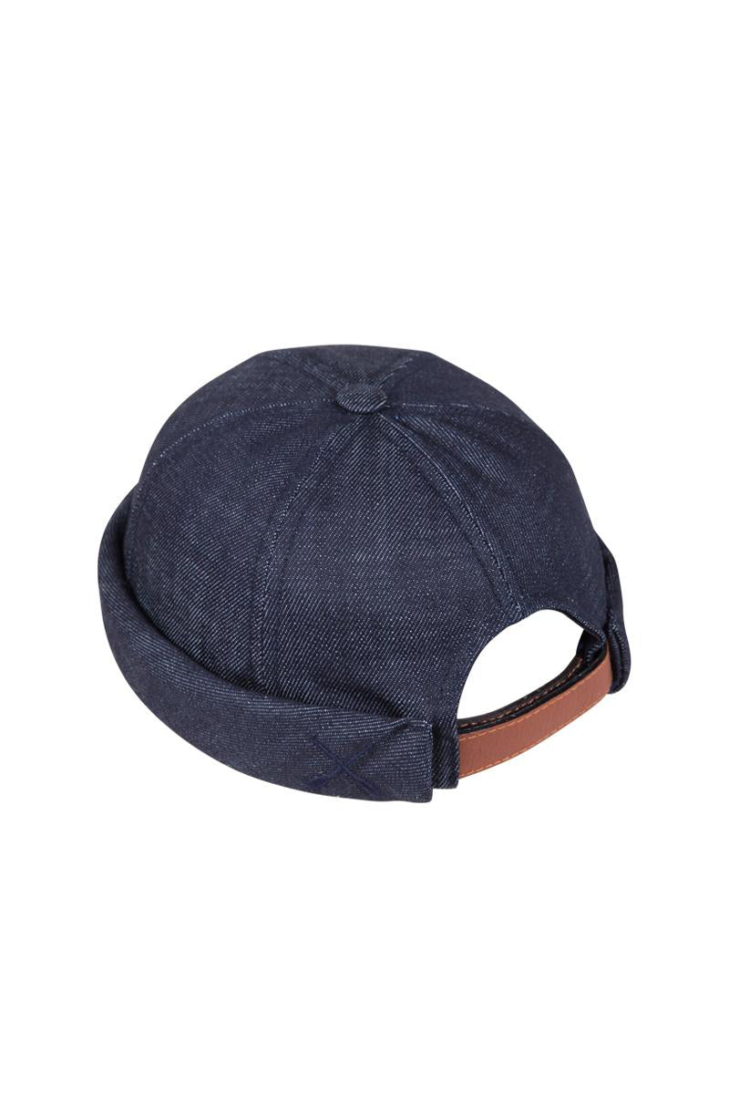 MIKI DOCKER BEANIE DENIM