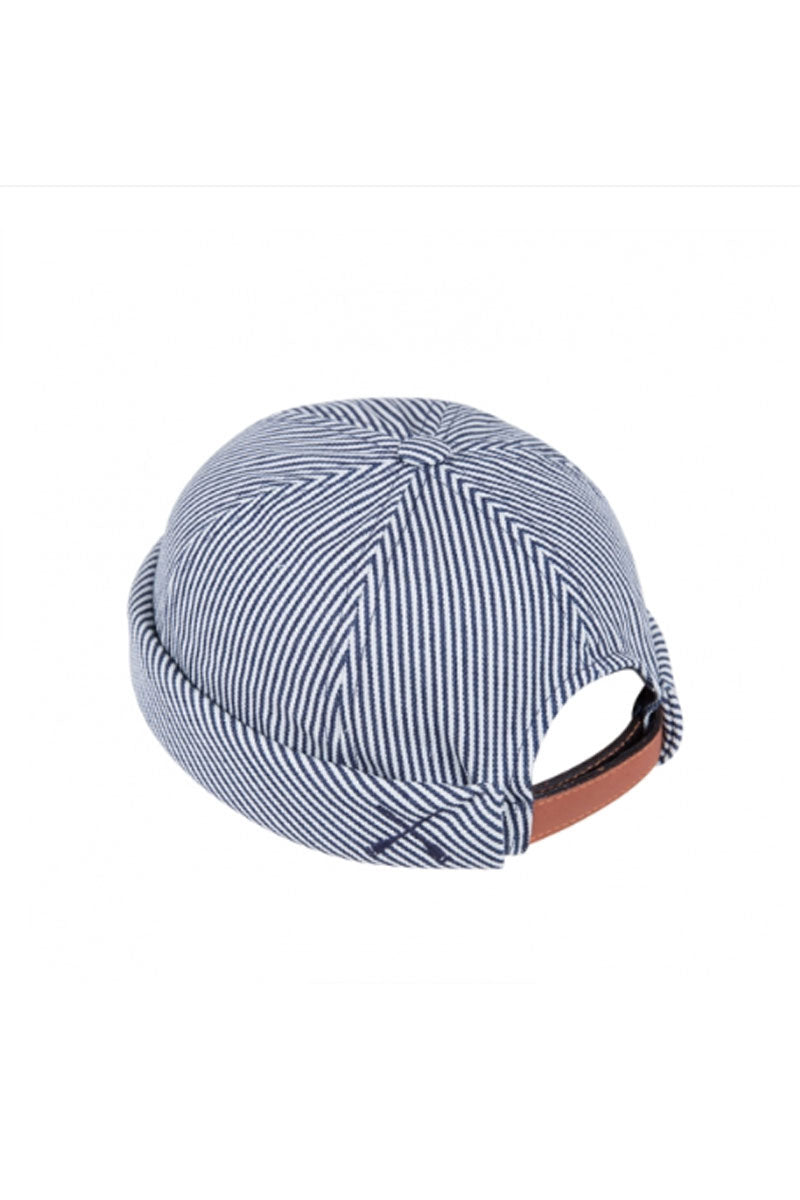 MIKI DOCKER BEANIE BLUE STRIPE