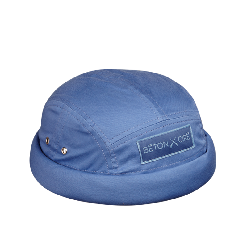 MIKI DOCKER BEANIE 7 PANELS BLUE
