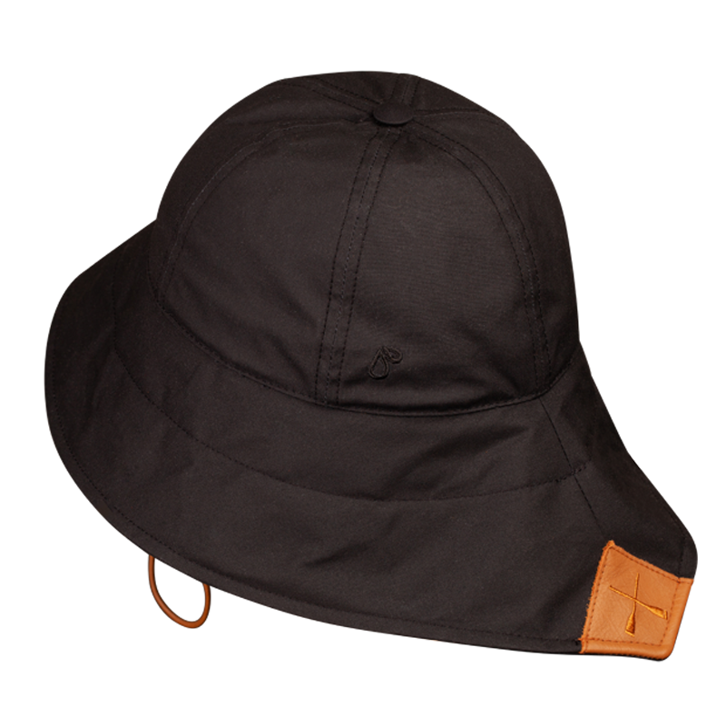 CHALUTIER RAIN HAT BLACK WATERPROOF