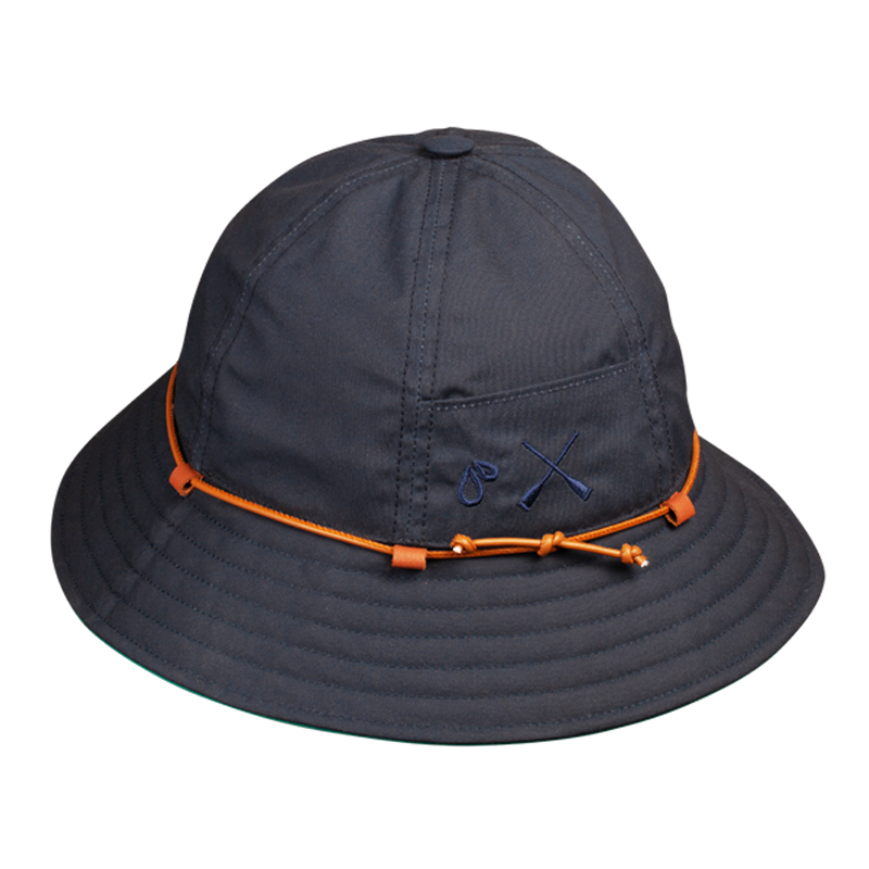 BUCKET HAT BLUE NAVY WATERPROOF 6 PANELS